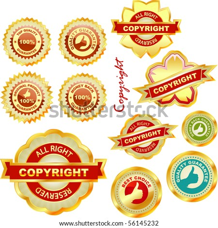 Vector label set for sale. - stock vector