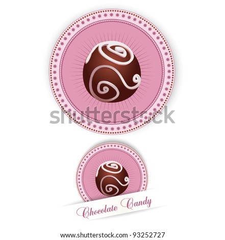 vector label with the Chocolates