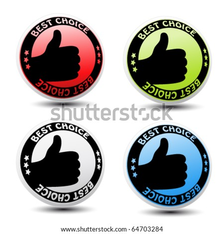 Vector labels - best choice - stock vector