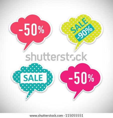 Vector Labels with sale messages