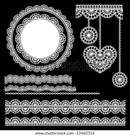 vector lace elements 2