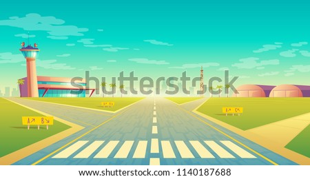 vector landing strip for