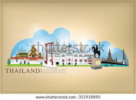 vector landmark of bangkok