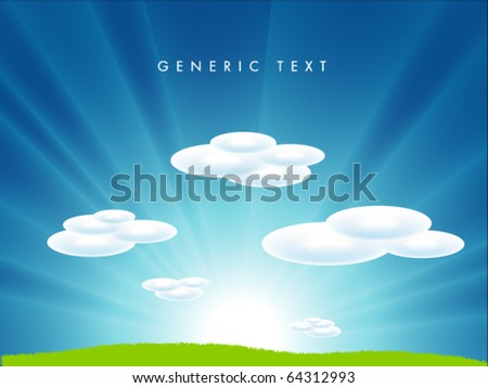 Vector Landscape - stock vector