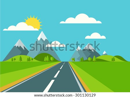 vector landscape background
