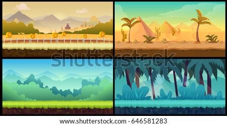 vector landscape cartoon