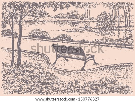 vector landscape cozy  quiet