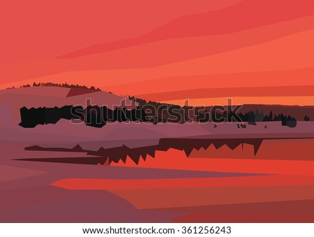 vector landscape illustration