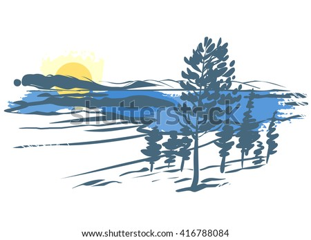 vector landscape imitation of
