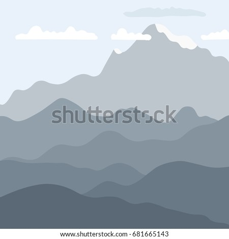 vector landscape   mountain