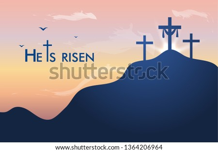 vector landscape on religious