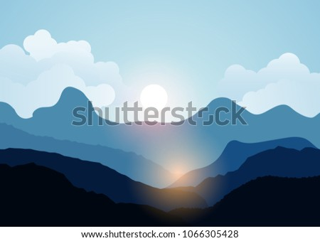 vector landscape view with