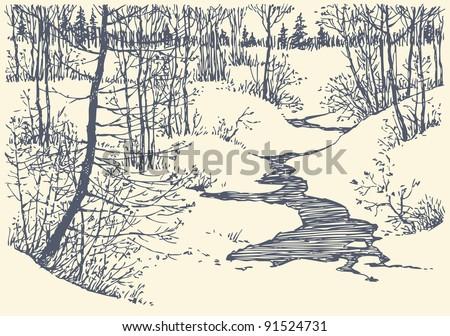 vector landscape. winter is not ...