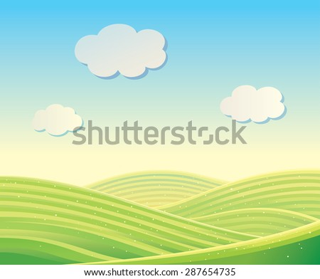vector landscape with fields