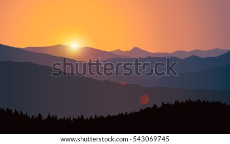 vector landscape with