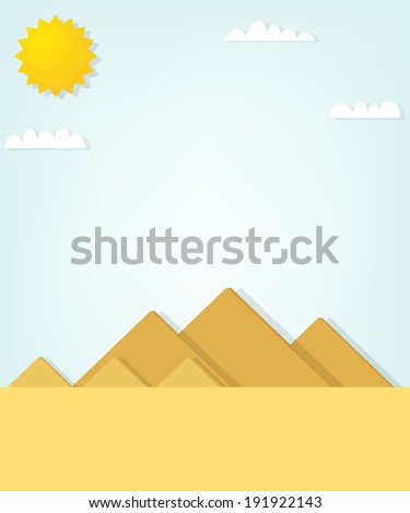 vector landscape with the