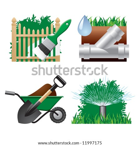 Vector landscaping icons 2