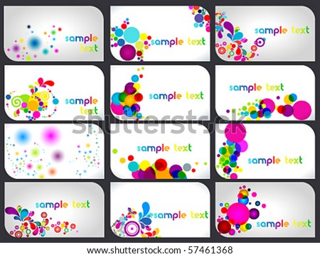 Vector large set of business cards
