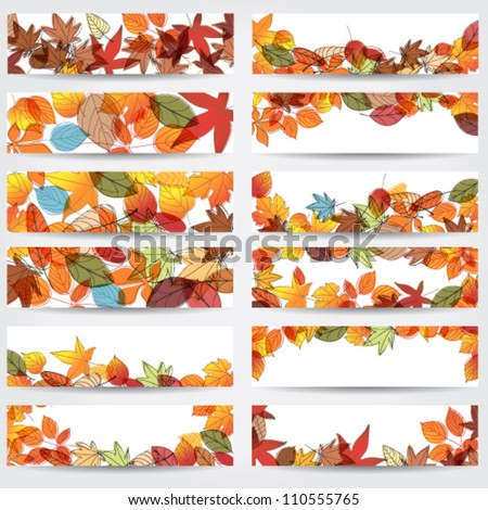 vector large set of colorful