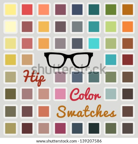 vector large set of cool color
