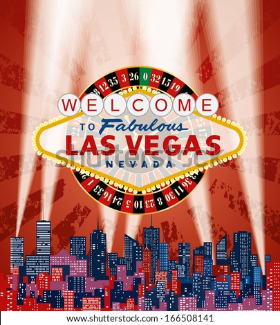vector las vegas sign with