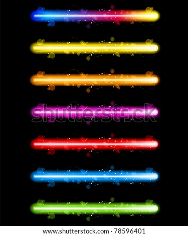 vector   laser neon colorful