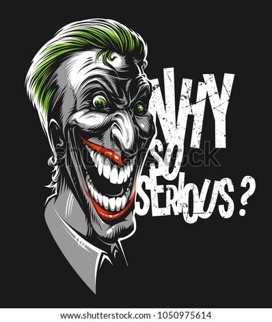 vector laughing joker