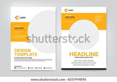 Vector Layout Design Template For Leaflet / Poster / Flyer / Pamphlet /  Brochure With Photo  Pamphlet Layout