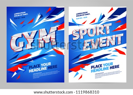 Vector layout design template for sport event, tournament or championship.