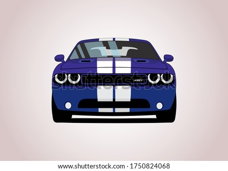 vector layout of a blue muscle