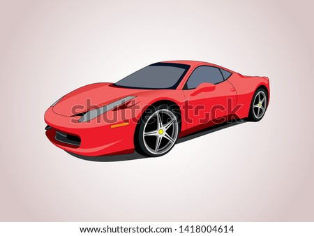 vector layout of a red sports