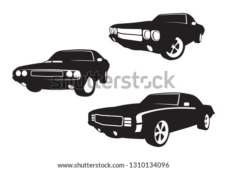 vector layout of a set of cars