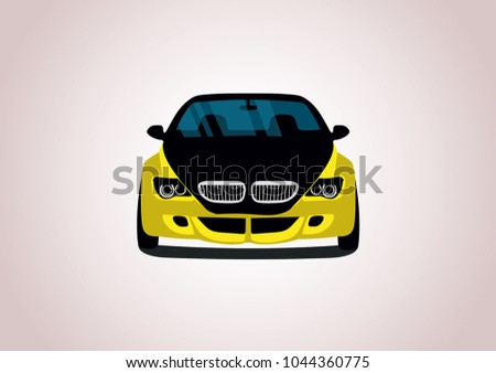 vector layout of a yellow
