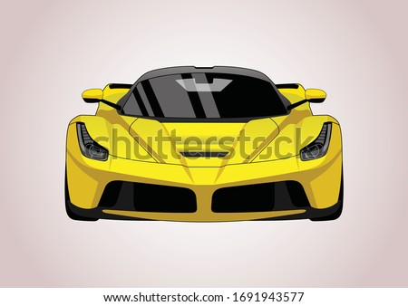 vector layout of a yellow super