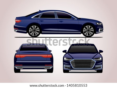vector layout of blue luxury