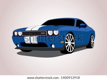vector layout of blue muscle
