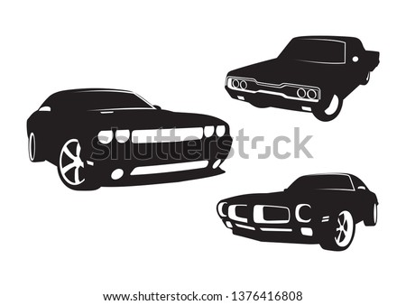 vector layout of muscle cars