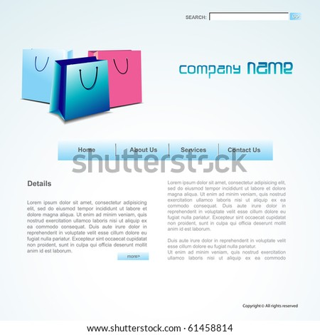 vector layout of shopping sale theme