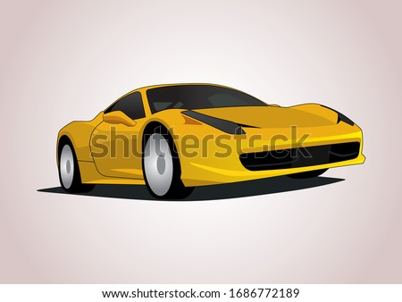 vector layout of super car