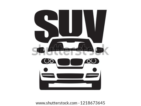 vector layout of suv sticker
