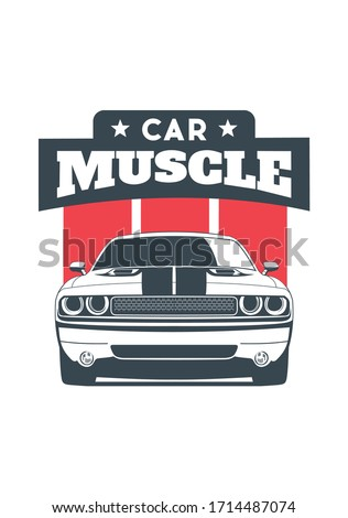 vector layout of the muscle car