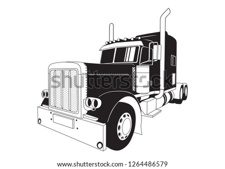 Truck black and white transport truck cliparts free download clip art -  WikiClipArt