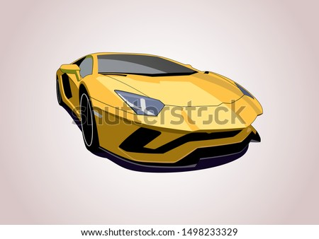 vector layout of the yellow