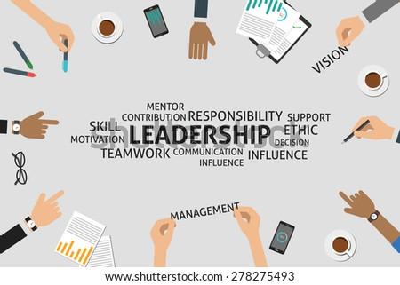 vector leadership concept,template