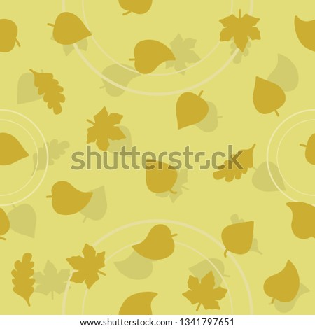 vector leaf pattern for natural product store, garden, nature cosmetics, ecology company, naturally firm, organic shop, alternative medicine, green unity, farming. 10 eps #1341797651