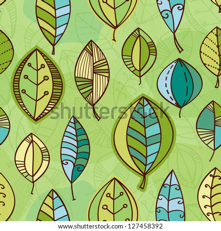 Abstract Pattern Vectors Vector Leaf Seamless Pattern