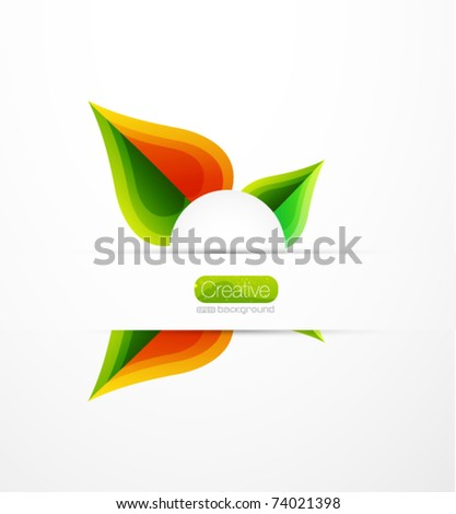Vector leaves. Abstract summer nature background