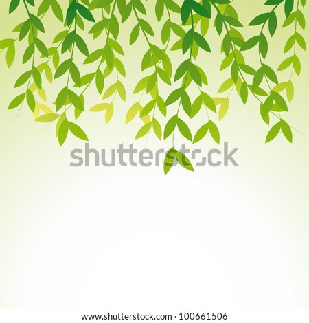 Vector leaves decoration. - stock vector