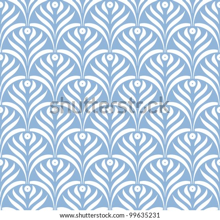 Vector leaves ornament seamless pattern