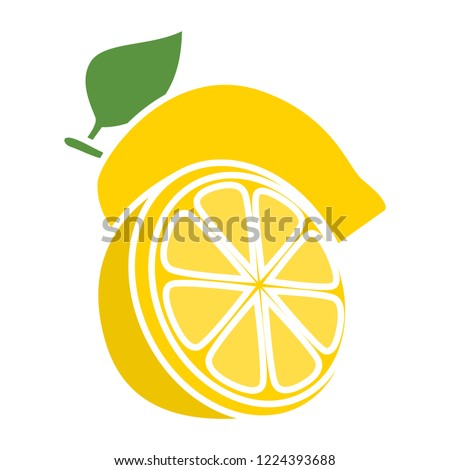 vector lemon icon flat